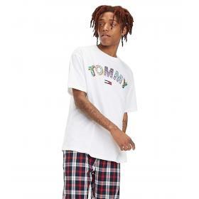 T-shirt Tommy Jeans girocollo con logo retrò da uomo rif. DM0DM06086