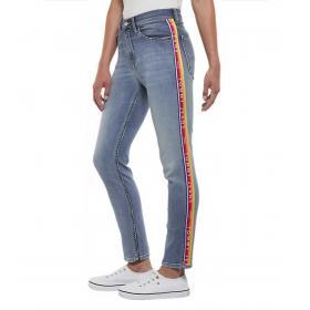 Jeans Tommy Jeans con bande laterali con logo da donna rif. DW0DW06481