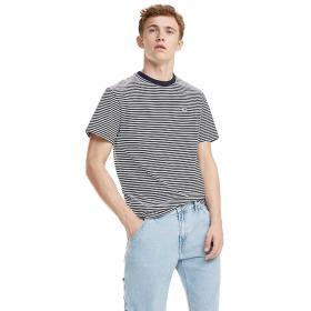 T-shirt Tommy Jeans a righe all over da uomo rif. DM0DM05515