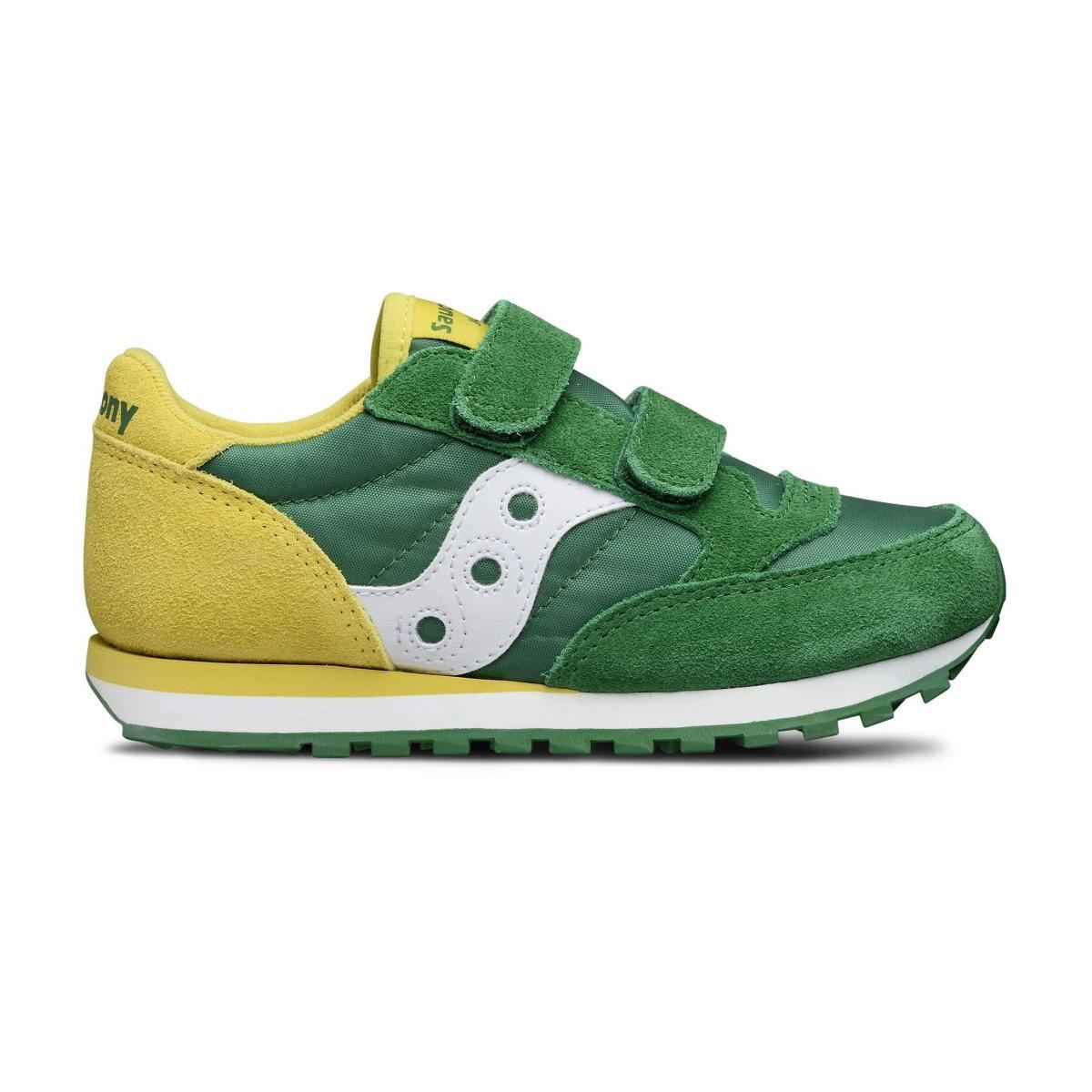 Scarpe Sneakers Saucony JAZZ DOUBLE HL GREEN/YEL da bambino rif. SK261010