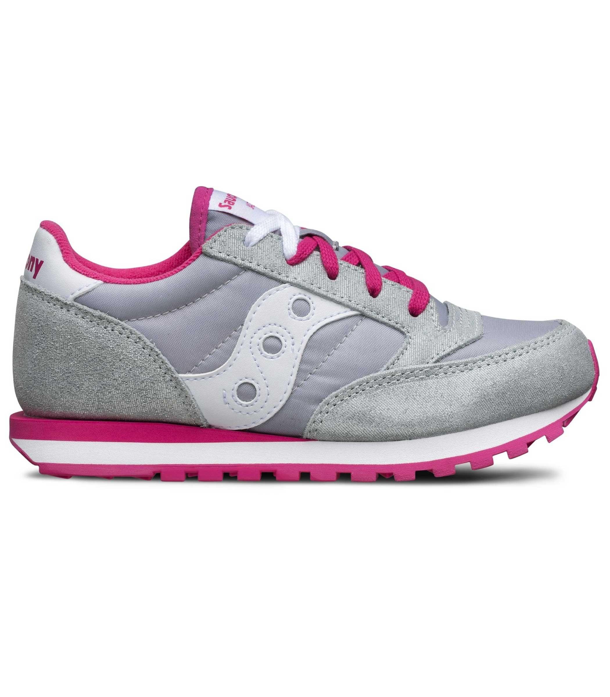 Scarpe Sneakers Saucony JAZZ ORIGINAL SILVER GREY da bambina ragazza rif. 63b1036abaa