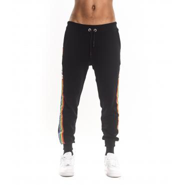 Pantaloni tuta Parental Advisory con bande laterali ed elestici al fondo da uomo rif. AD965U
