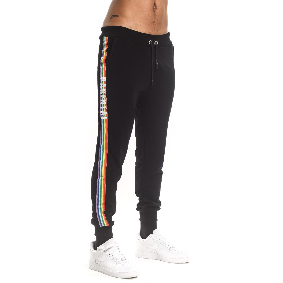 Pantalone tuta Parental Advisory con bande laterali ed elestici al fondo da uomo rif. AD965U