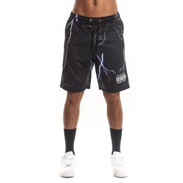 Bermuda shorts Parental Advisory con stampa tuono da uomo rif. AD977U
