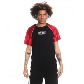T-shirt Pyrex con stampa sul petto con maniche in raso da uomo rif. 19EPC40223