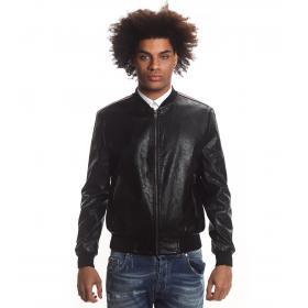 Giubbotto Over-D giacca in ecopelle con bande laterali da uomo rif. GN/09