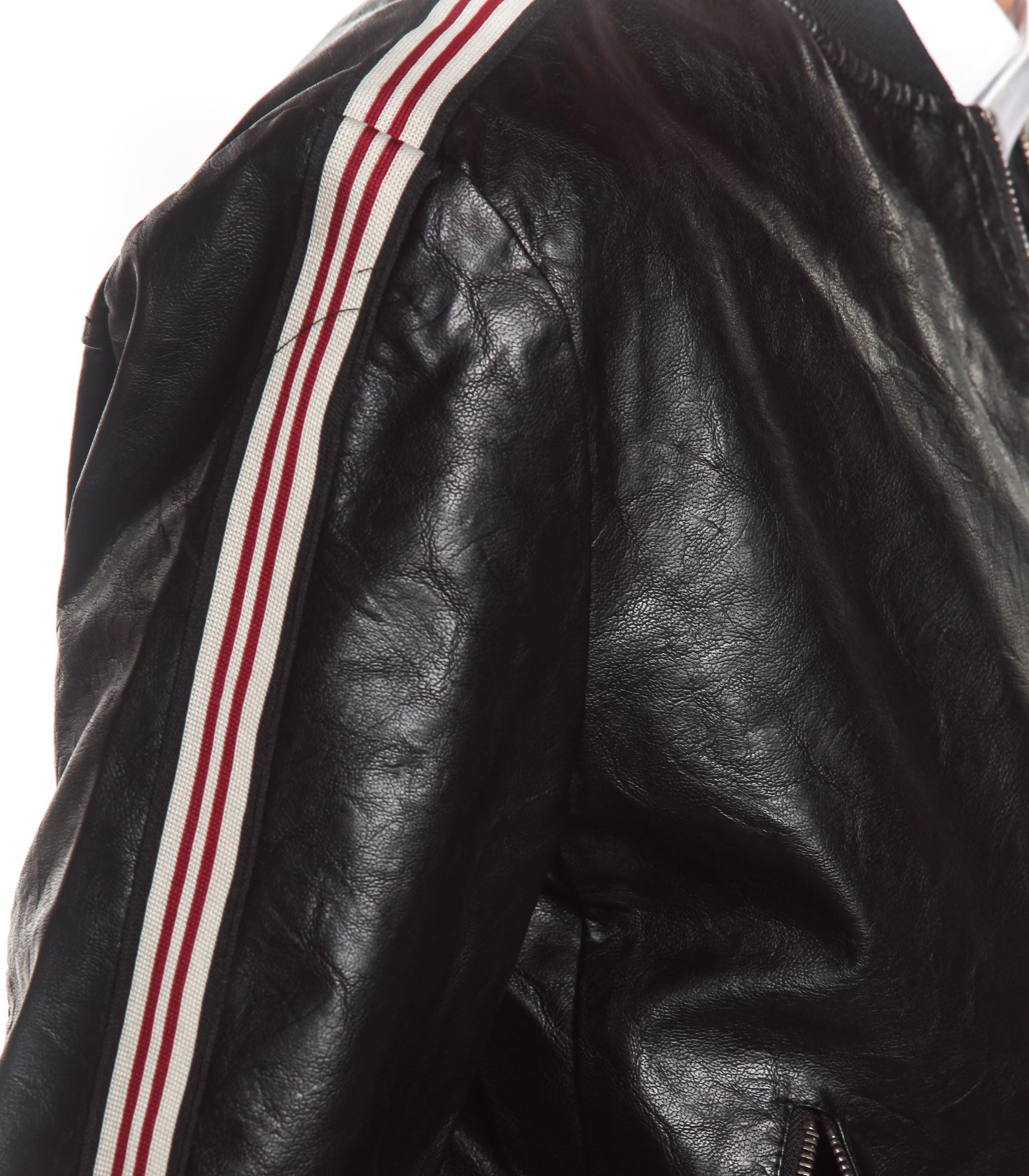 online store e0dcc 6d9f4 Giubbotto Over-D giacca in ecopelle con bande laterali da ...