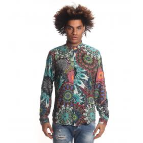 Camicia Over-D multicolore fantasia floreale slim fit da uomo rif. 06419/OVD