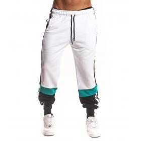 Pantaloni tuta White con bande laterali e stampa sul fondo da uomo rif. W19210