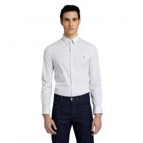 Camicia Trussardi slim fit con stampa geometrica a puntini da uomo rif. 52C00058 1T002235