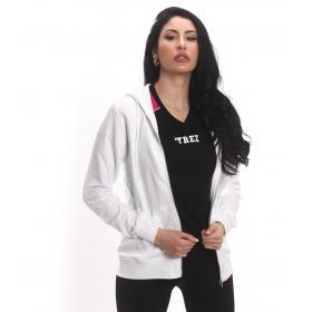 Felpa Pyrex con zip e cappuccio con logo sul retro da donna rif. 19EPB40002