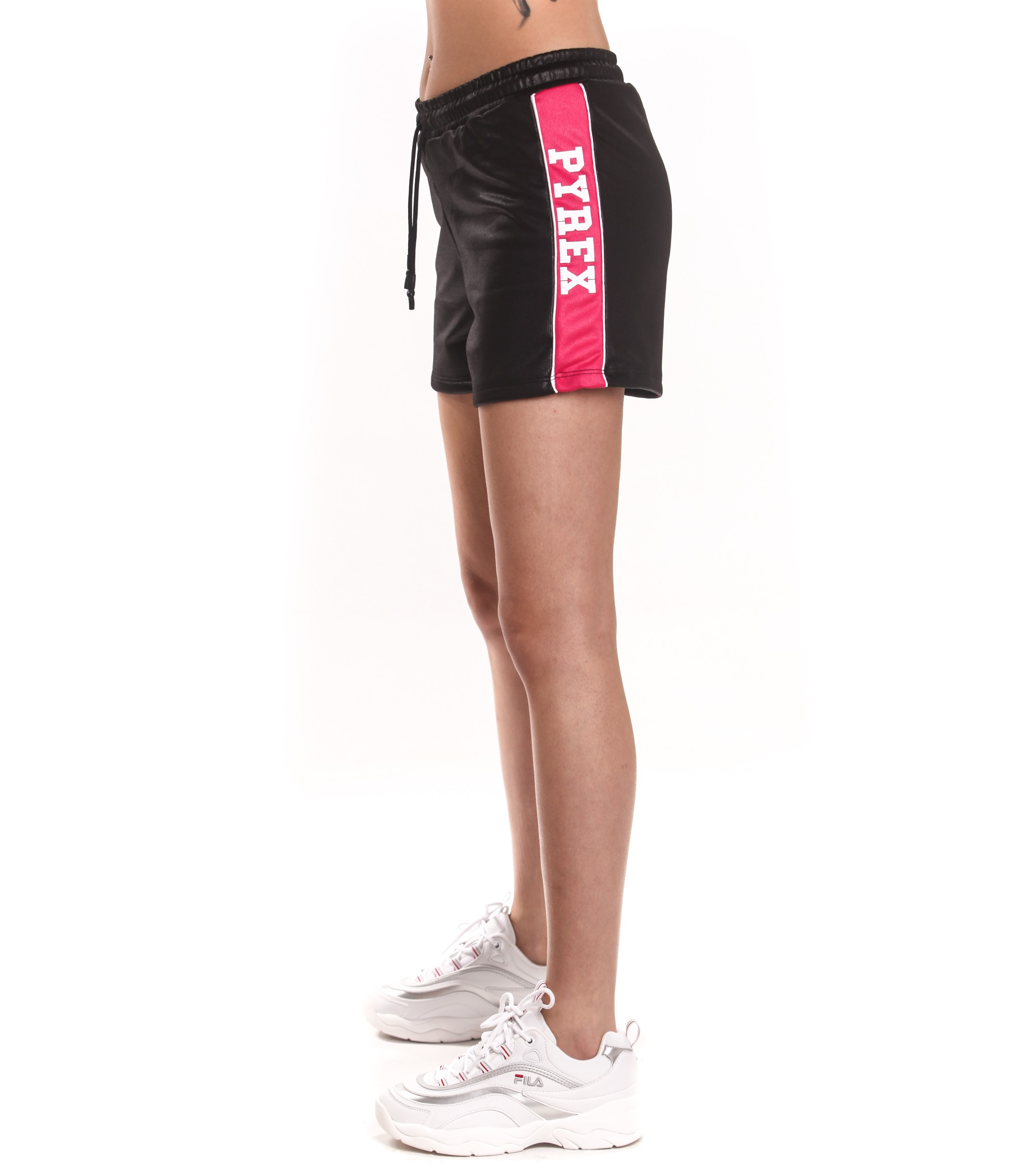 economico per lo sconto 9640a 3bc69 Shorts Pyrex con bande laterali con logo da donna nero ...