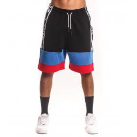 Bermuda shorts White con bande laterali e stampa da uomo rif. W19232