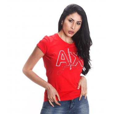 T-shirt Armani Exchange con maxi stampa da donna rif. 3GYTAQ YJC7Z