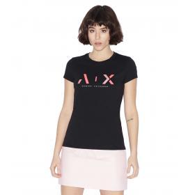 T-shirt Armani Exchange con stampa da donna rif. 3GYTBB YJS5Z