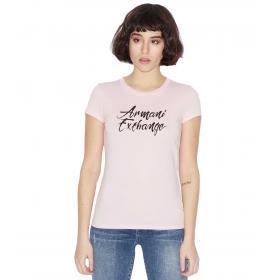 T-shirt Armani Exchange con stampa a contrasto da donna rif. 3GYTBA YJG3Z