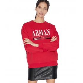 Felpa Armani Exchange con logo da donna rif. 3GYM74 YJX1Z