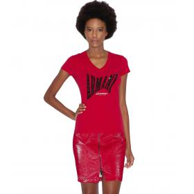 T-shirt Armani Exchange con paillettes da donna rif. 3GYT91 YJC7Z