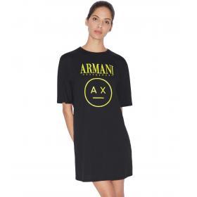 Maxi T-shirt Armani Exchange con stampa da donna rif. 3GYTCT YJX9Z