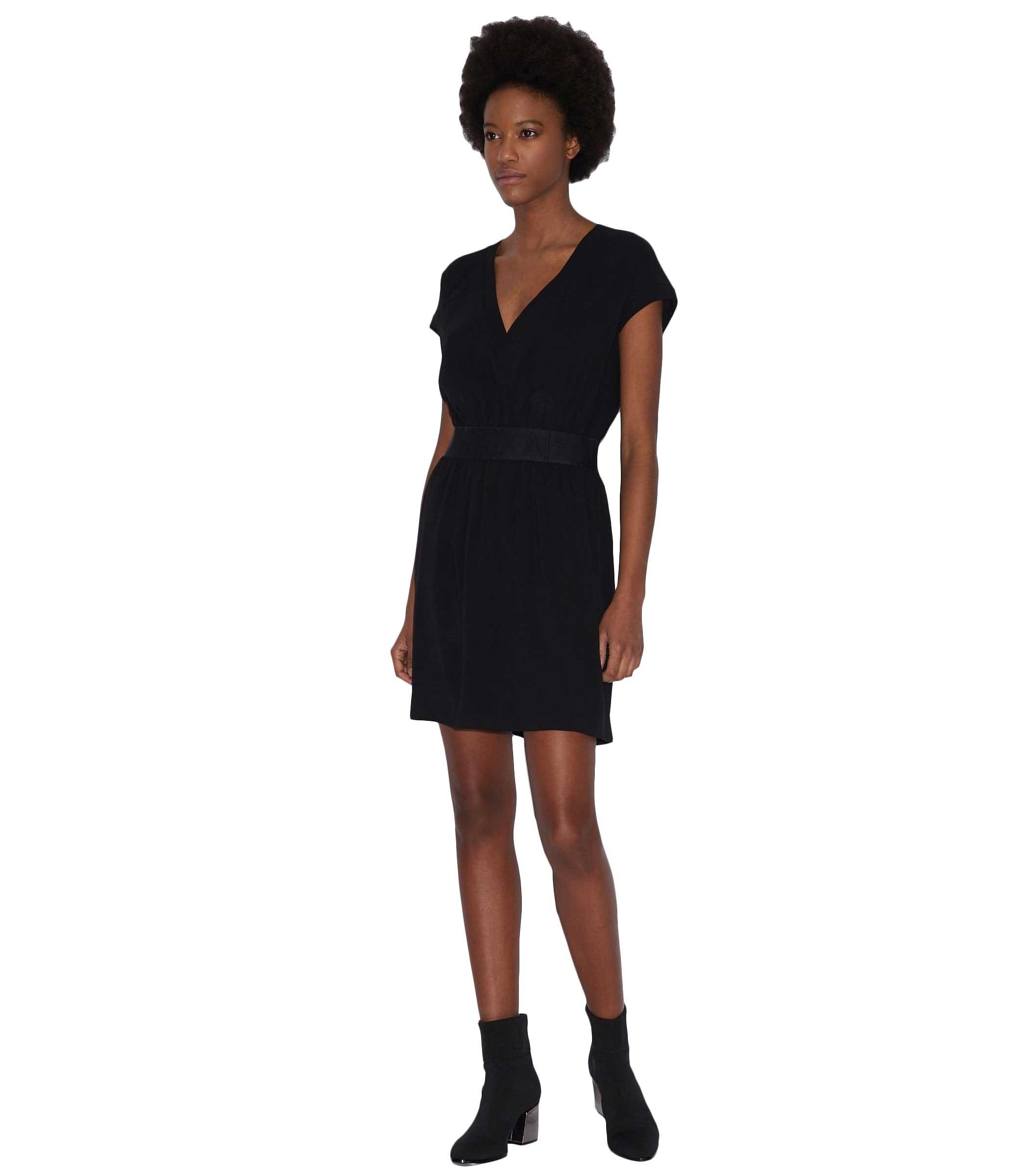 big sale 79b02 94f72 Abito vestitino Armani Exchange con logo da donna rif ...