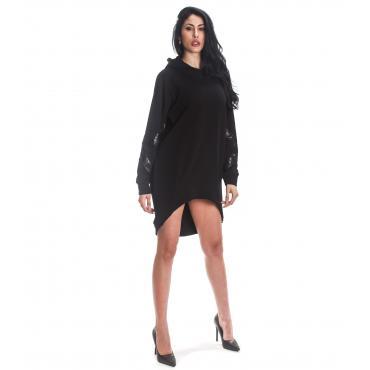 Vestito in felpa H.U.N.T. maniche lunghe con cappuccio da donna rif. HDC817