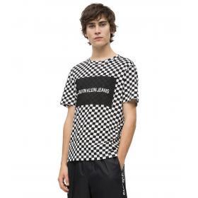 T-shirt Calvin Klein Jeans fantasia a scacchi da uomo rif. J30J312130
