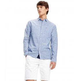 Camicia Tommy Jeans in cotone misto lino da uomo rif. DM0DM06008