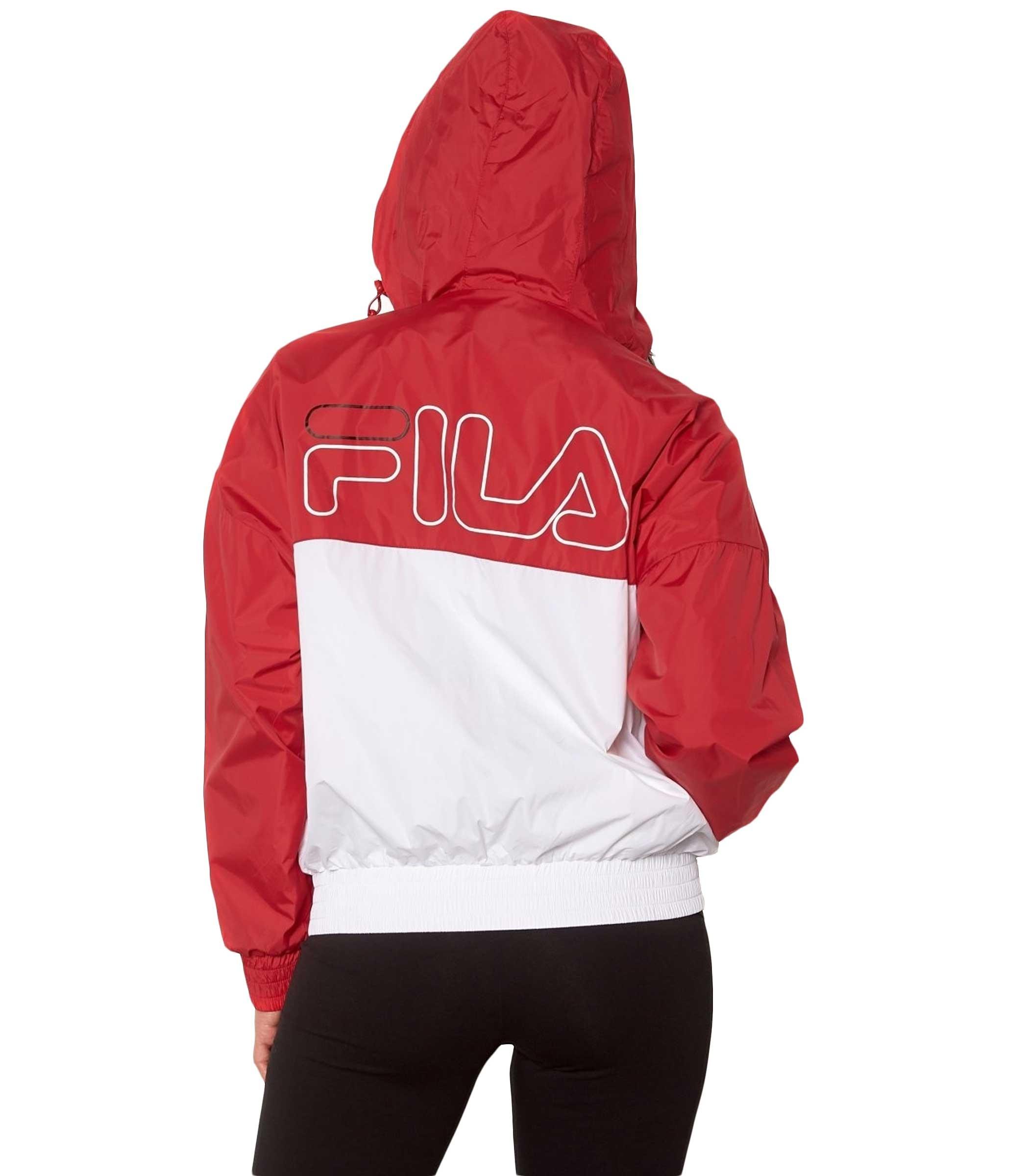 più recente 38025 ec818 Giacca FILA Ray Wind Jacket bicolore con cappuccio da donna ...