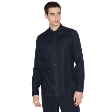 Camicia Armani Exchange in lino relaxed fit da uomo rif. 3GZC48 ZNCFZ