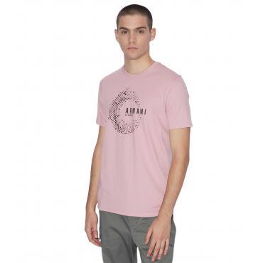 T-shirt Armani Exchange con stampa e scritte da uomo rif. 3GZTHD ZJV5Z