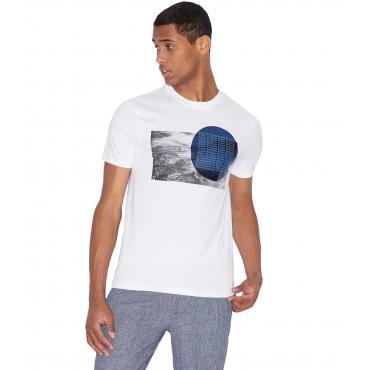 T-shirt Armani Exchange con stampa sul petto da uomo rif. 3GZTGN ZJH4Z