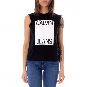 Canotta Calvin Klein Jeans con stampa da donna rif. J20J210509