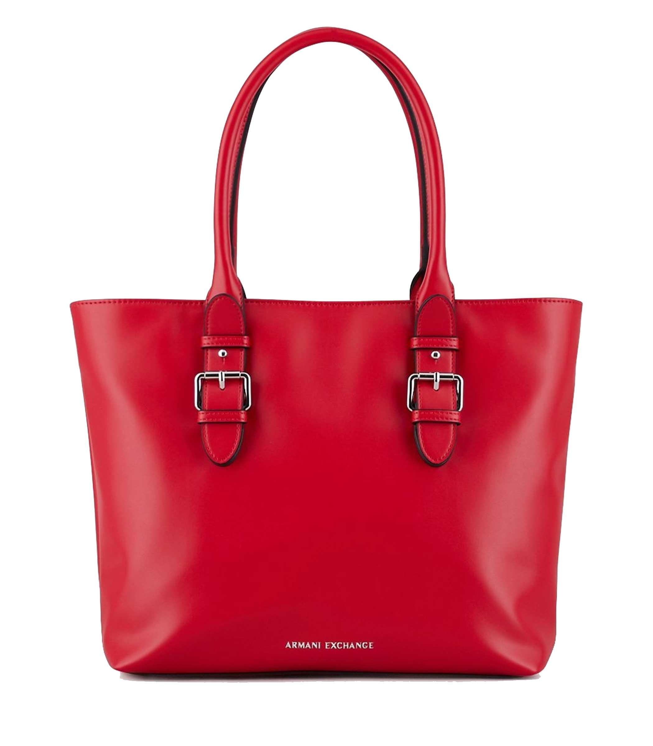 3ac99f0933 Borsa shopper Armani Exchange tote da donna nero rosso 942513 9P123