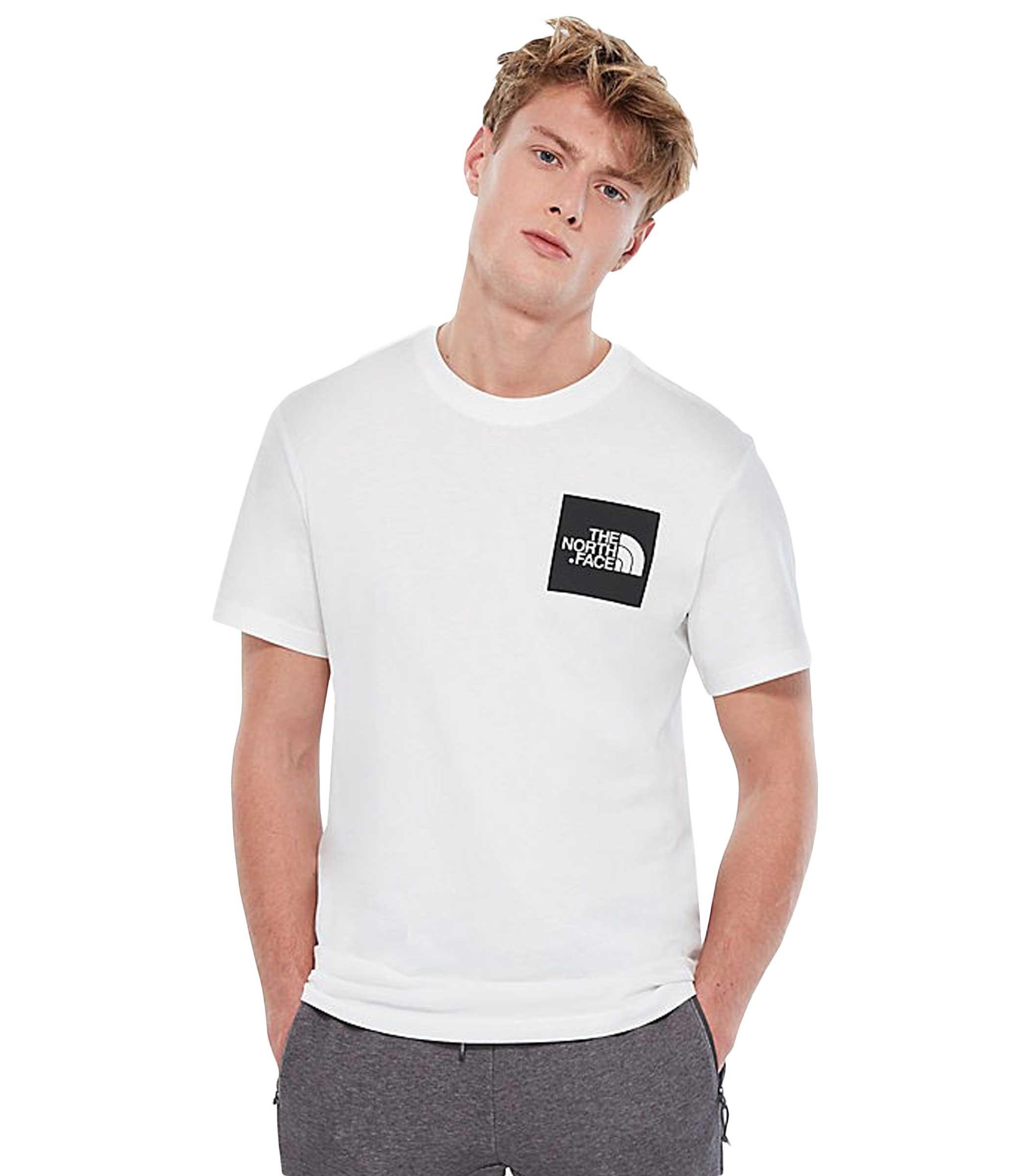 new concept 6ed1c 44c8b T-shirt THE NORTH FACE con stampa con logo da uomo bianca ...