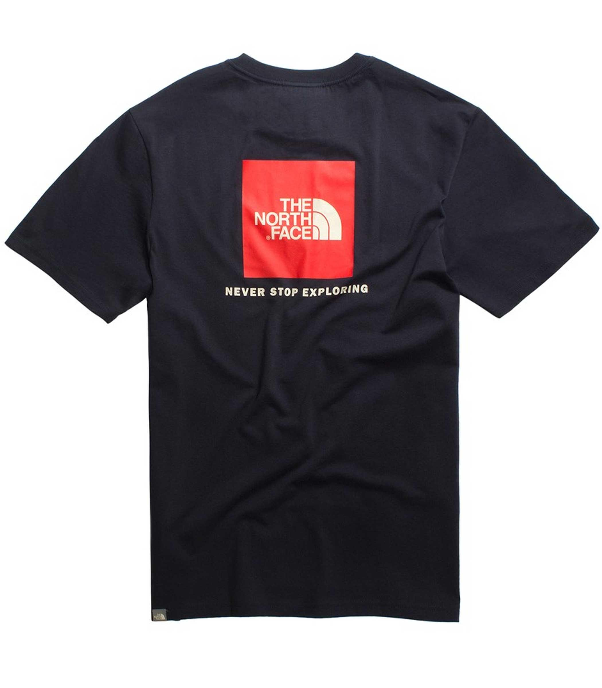 check out d9c0e 4a738 T-shirt THE NORTH FACE con stampa sul retro da uomo blu rif ...