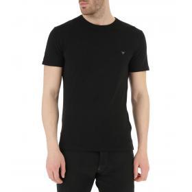 T-shirt GUESS girocollo con logo sul petto da uomo rif. M91I32J1300