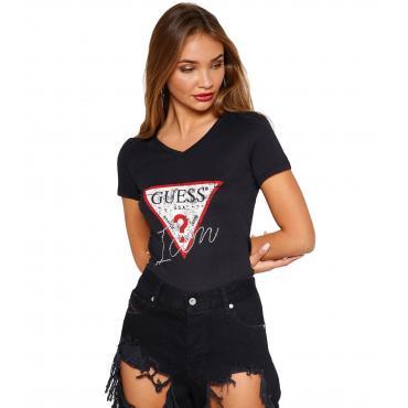 T-shirt GUESS con triangolo con logo da donna rif. W91I69K46D0