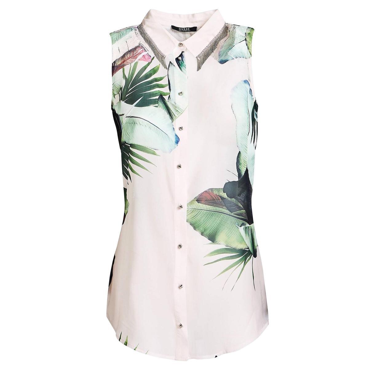 Camicia GUESS con applicazioni metalliche da donna rif. W92H79W70Q0