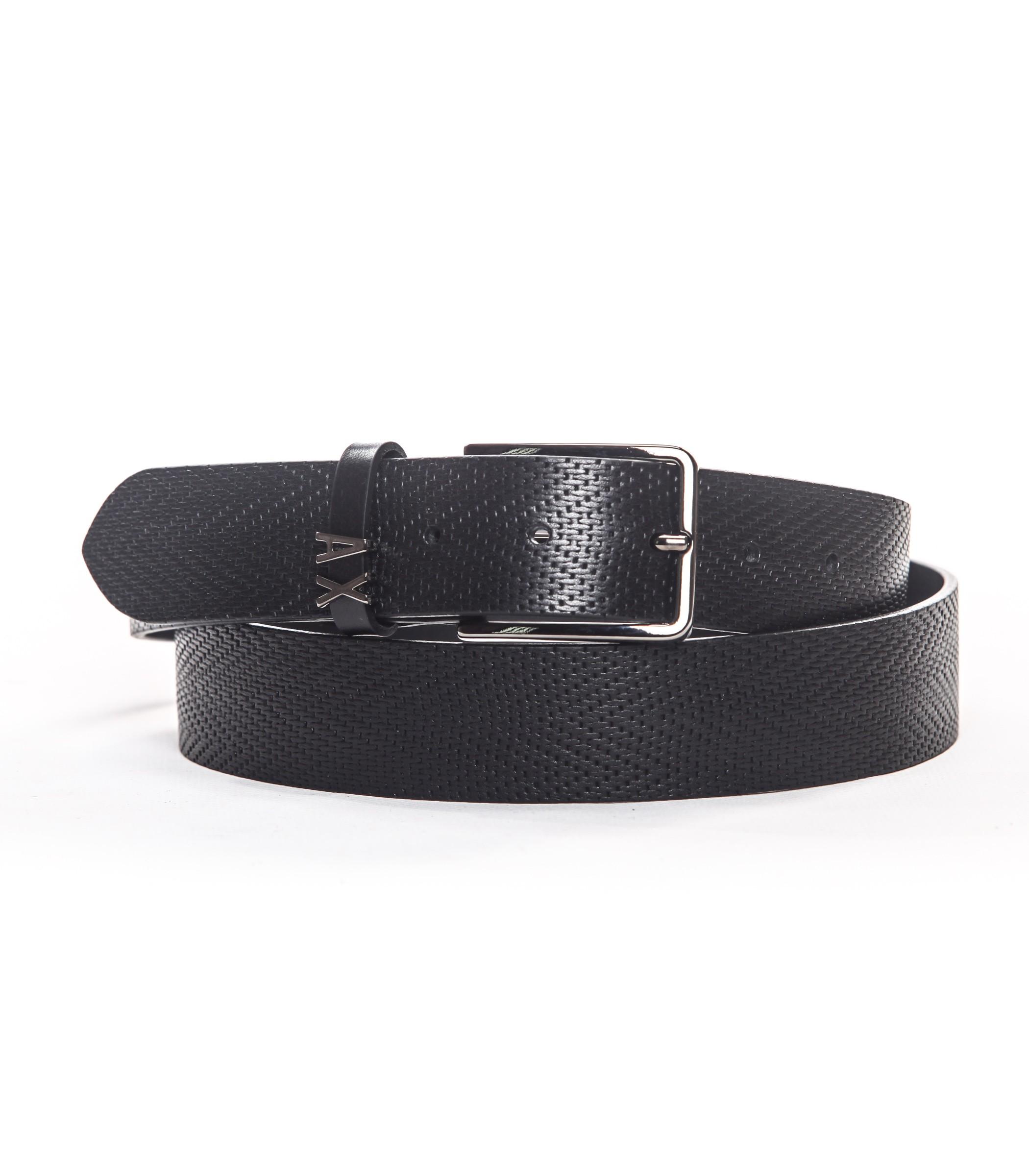 migliori offerte su sulle immagini di piedi di più amato Cintura Armani Exchange in pelle da uomo nera o marrone 951169 9P187