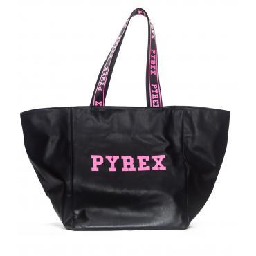 Borsa Pyrex shopping bag con stampa e logo sui manici da donna rif. PY19051