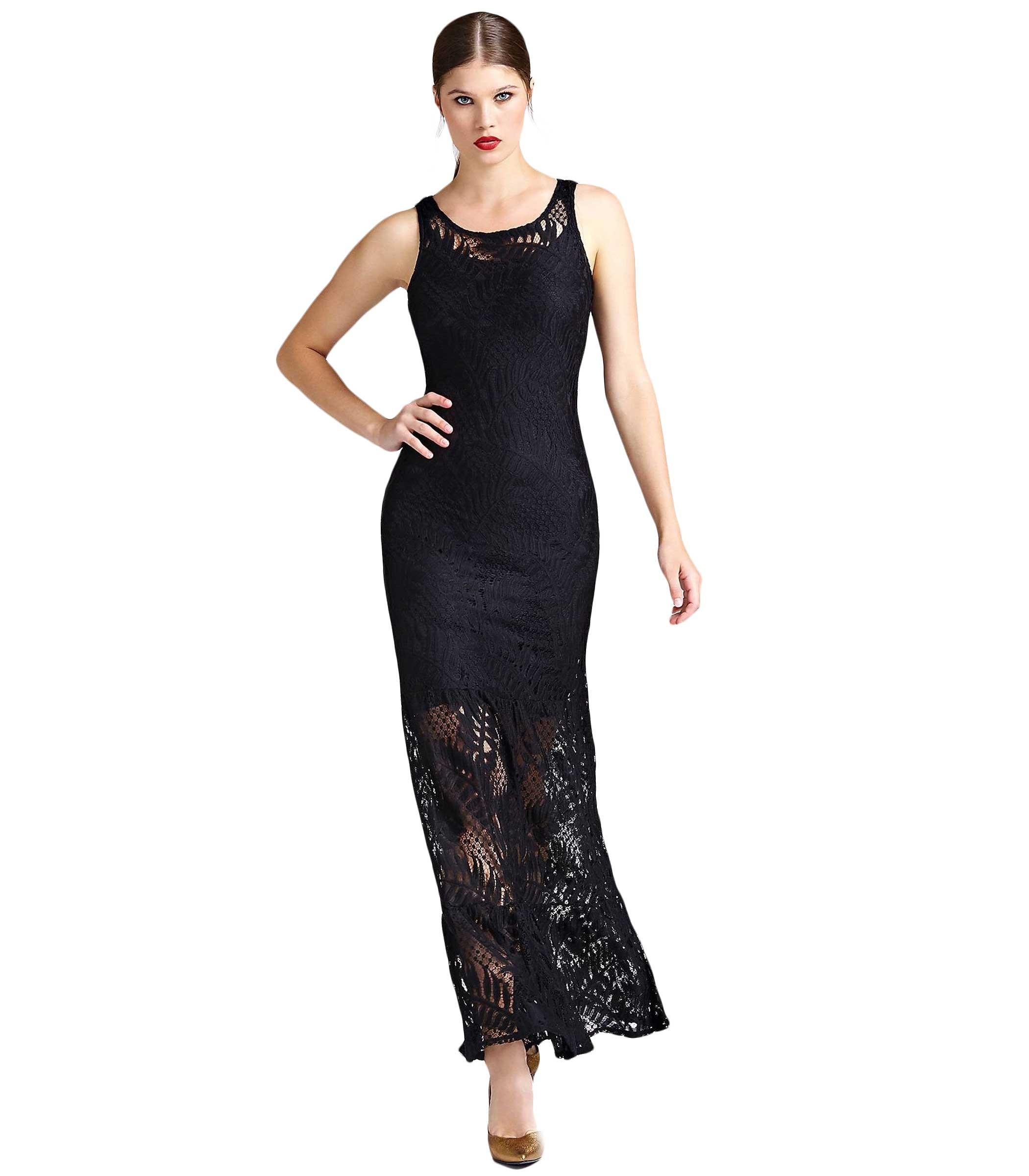 buy popular 97ea5 45cb8 Vestito Abito GUESS in pizzo dettaglio trasparente donna ...