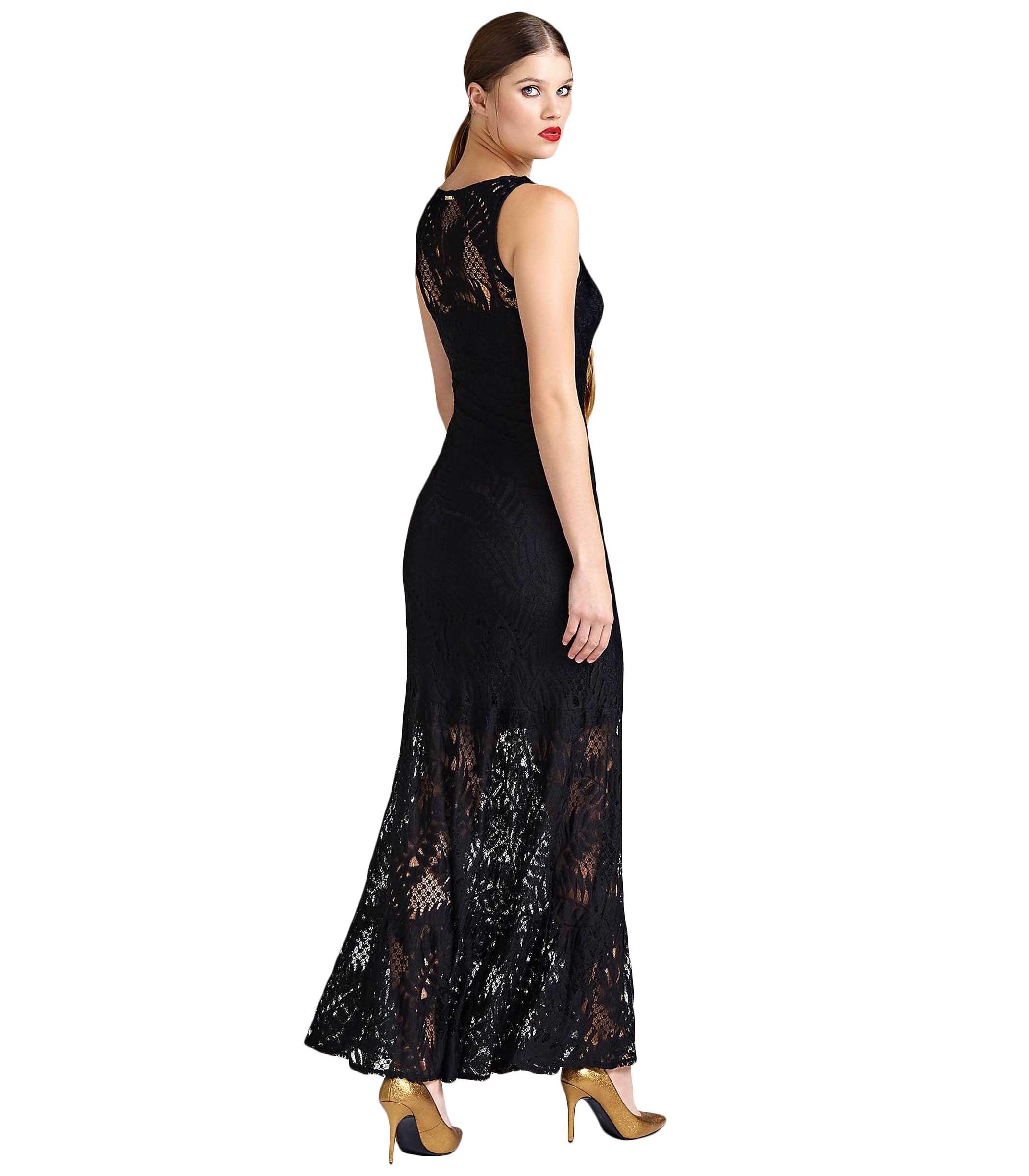 buy popular 4b316 666fe Vestito Abito GUESS in pizzo dettaglio trasparente donna ...