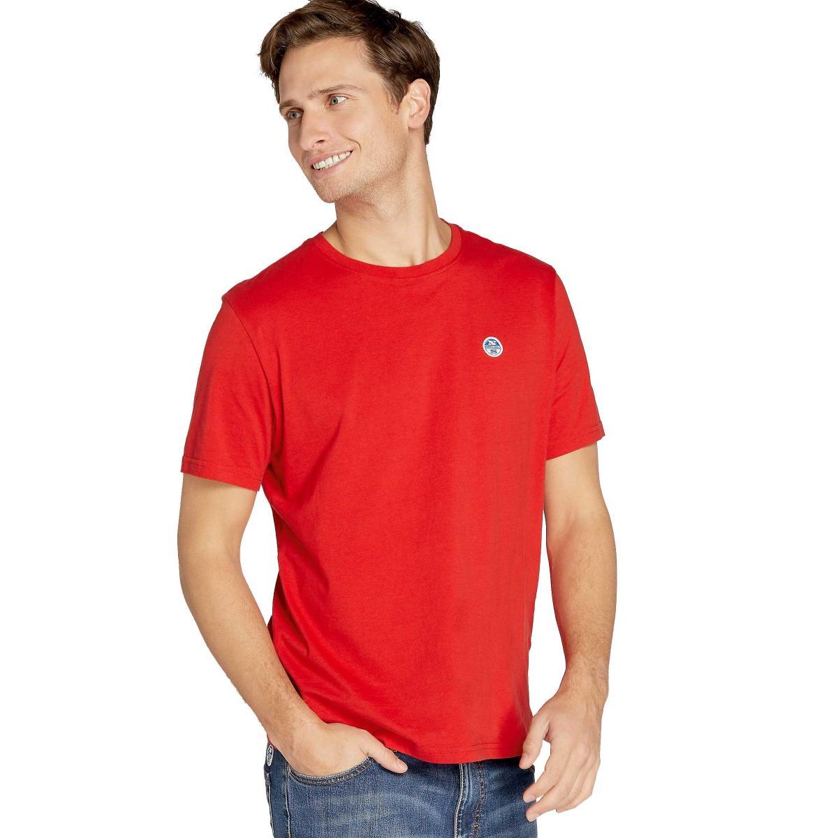 T-shirt NORTH SAILS Lowell girocollo con logo da uomo rif. 692167 000