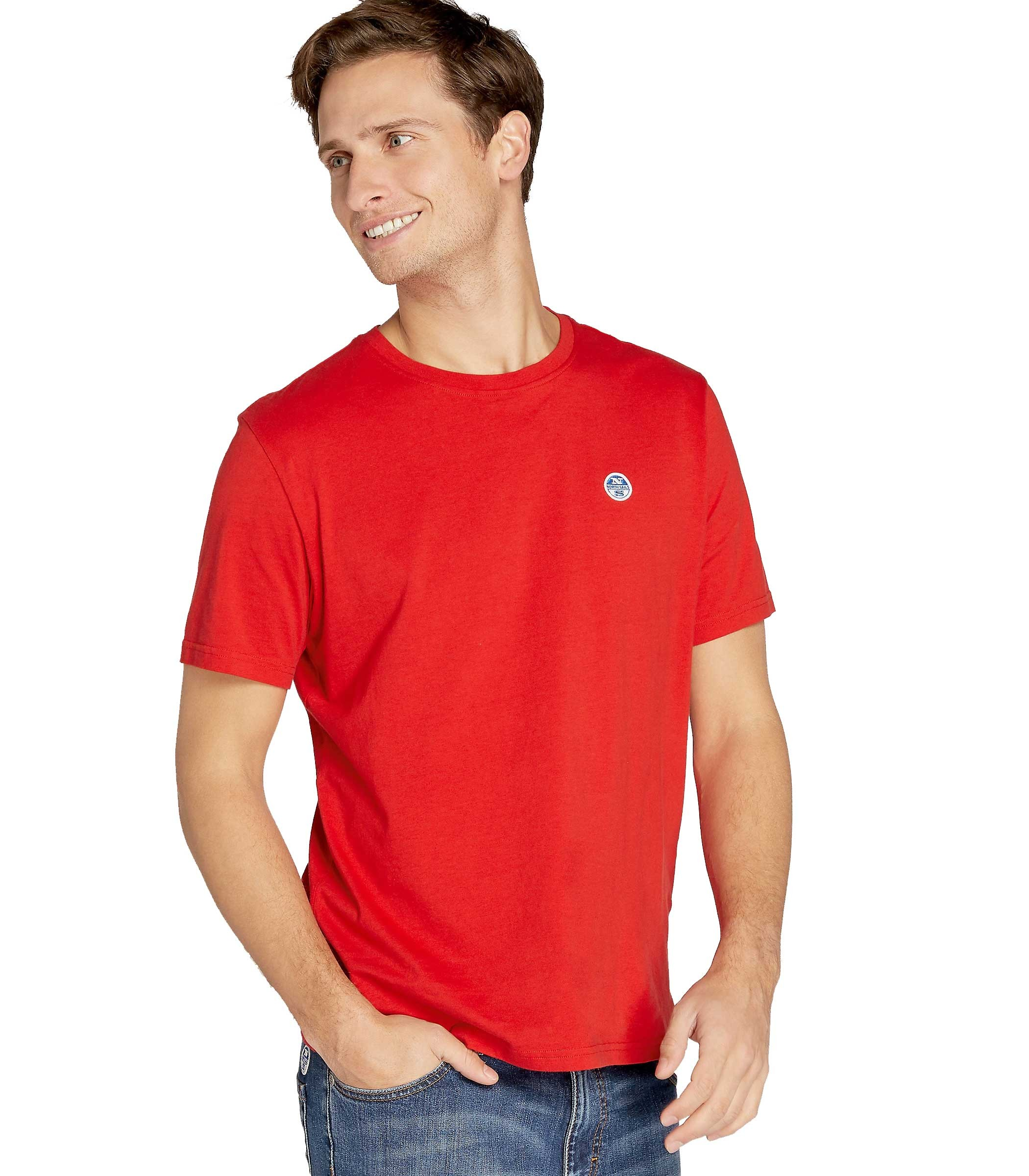 719575a238 T-shirt NORTH SAILS Lowell girocollo con logo da uomo rif. 692167 000