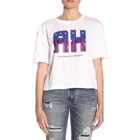 T-shirt Armani Exchange con stampa sul petto da donna rif. 3GYTCM YJX4Z