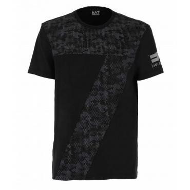 T-shirt Emporio Armani EA7 con stampa camouflage da uomo rif. 3GPT29 PJ04Z