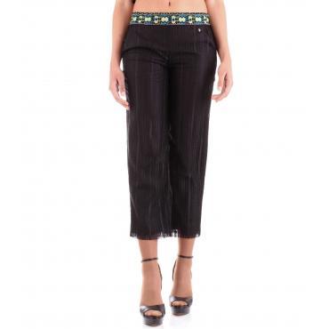 Pantaloni Trussardi con pizzo ricamato in vita da donna rif. 56P00139 1T002280