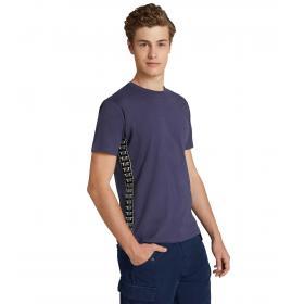 T-shirt Trussardi con bande laterali con logo da uomo rif. 52T00243 1T001675