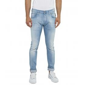 Jeans Pantaloni REPLAY denim blu cinque tasche da uomo rif. MA931E.000 175 474 010