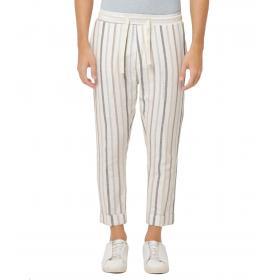 Pantaloni OUTFIT misto lino in tessuto a righe da uomo rif. OF1S1S9P041